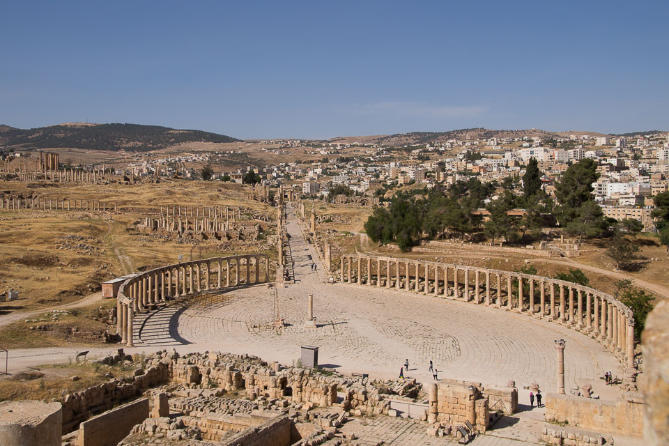 """Oval Forum at Jerash"" by Emma Jones"