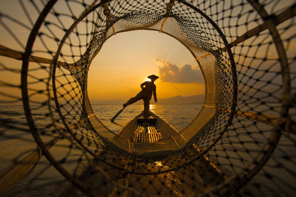 """Through the Net at Sunset"" by Emma Jones"