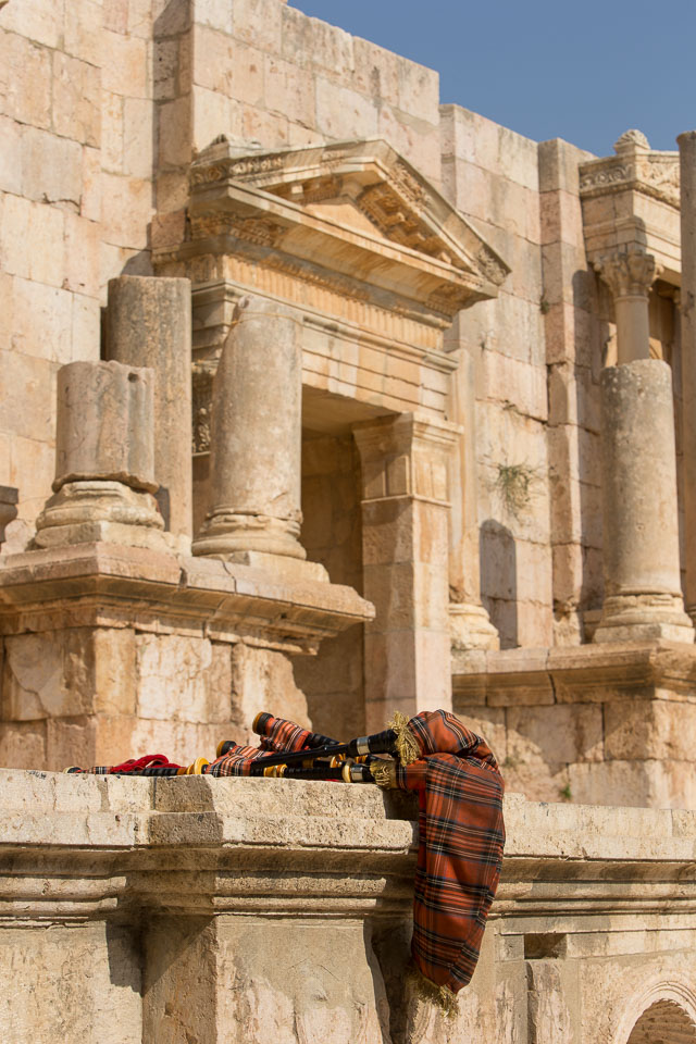 """""""Bagpipes in Roman Theatre"""" by Neil Cordell"""