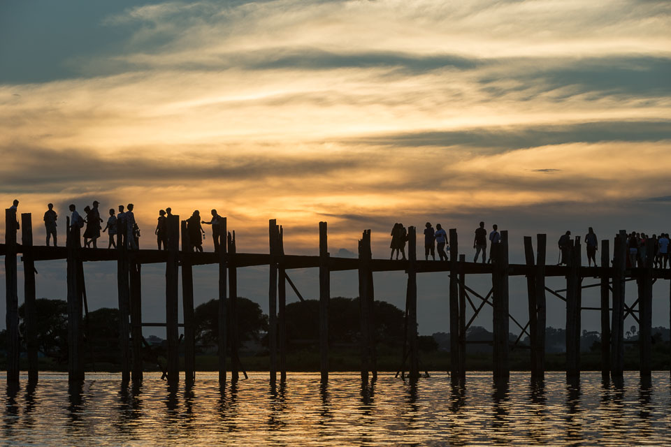 """U Bain Bridge at Sunset"" by Neil Cordell"