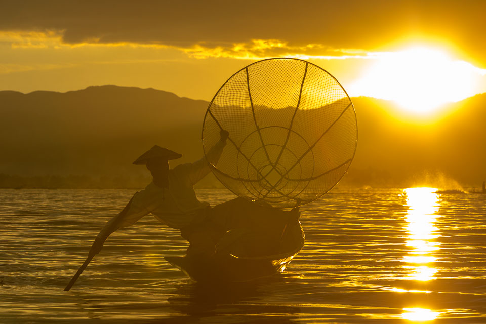 """Sunset at Inle Lake"" by Neil Cordell"