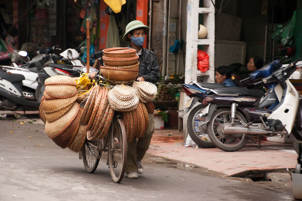 """Baskets on a Bike in Hanoi"" by Emma Jones"