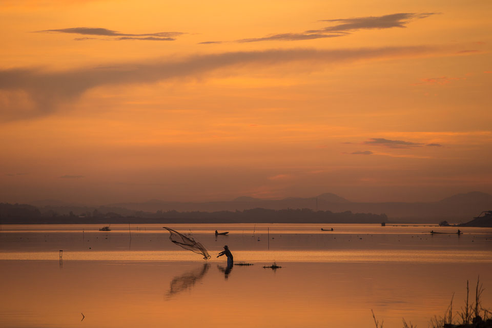"""""""Sunset on the Mekong"""" by Neil Cordell"""