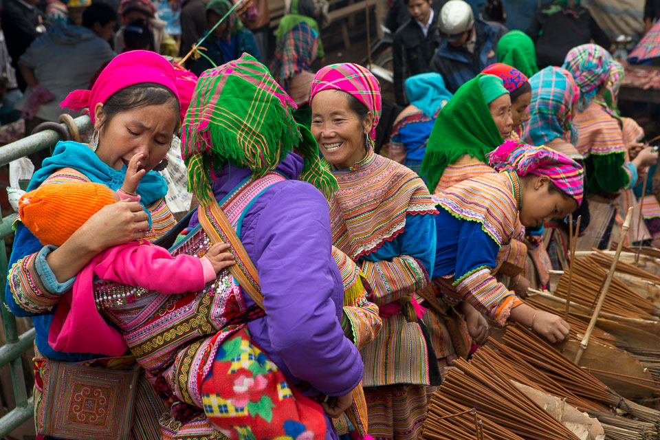 """""""Hmong Women and Baby"""" by Neil Cordell"""